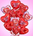 Air-Rangement Love and Romance Mylar Balloons From Stellar, your flower shop in Sylvania, OH