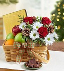 Bountiful Basket for Christmas From Stellar, your flower shop in Sylvania, OH