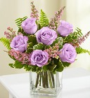 Love's Embrace Roses - Purple From Stellar, your flower shop in Sylvania, OH