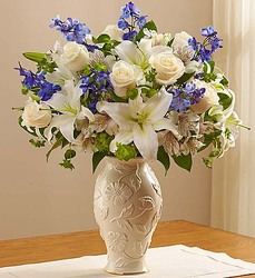 Loving Blooms Lenox Blue and White From Ka'bloom, your flower shop in Sylvania, OH