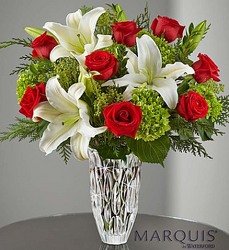Marquis by Waterford Holiday Arrangement From Stellar, your flower shop in Sylvania, OH