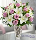 Marquis by Waterford Purple Rose and Lily Bouquet From Stellar, your flower shop in Sylvania, OH