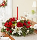 Season's Greetings Centerpiece From Stellar, your flower shop in Sylvania, OH