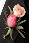 Pink Cascade Boutonniere From Stellar, your flower shop in Sylvania, OH