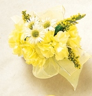 Rays of Gold Wrist Corsage From Stellar, your flower shop in Sylvania, OH