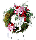 FTD Lily & Rose Wreath From Stellar, your flower shop in Sylvania, OH