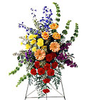 FTD Fond Farewell Standing Spray From Stellar, your flower shop in Sylvania, OH