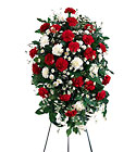 FTD Crimson & White Standing Spray From Stellar, your flower shop in Sylvania, OH
