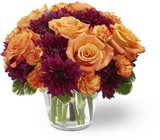 Autumn Treasures Bouquet Bowl From Stellar, your flower shop in Sylvania, OH