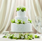 The FTD Bloom & Blossom Cake Décor From Stellar, your flower shop in Sylvania, OH