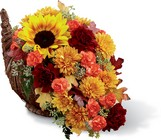 Fall Harvest Cornucopia by Better Homes and Gardens  From Stellar, your flower shop in Sylvania, OH
