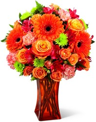 Orange Escape Bouquet From Stellar, your flower shop in Sylvania, OH