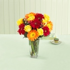 Best Wishes Rose and daisy Bouquet with Vase From Stellar, your flower shop in Sylvania, OH