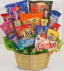 Junk Food Basket From Stellar, your flower shop in Sylvania, OH
