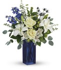 Calming Cobalt Bouquet From Stellar, your flower shop in Sylvania, OH